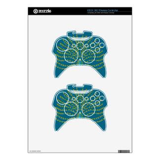 xBox 360 Wireless Controller Skin, Peacock Design Xbox 360 Controller Skins