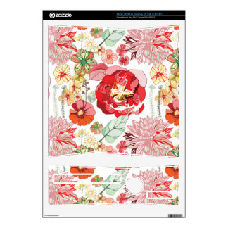 Xbox Slim Floral vintage pattern Skin For Xbox 360 S