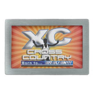 XC BORN TO RUN CROSS COUNTRY LOGO BELT BUCKLE