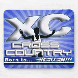 XC BORN TO RUN CROSS COUNTRY LOGO MOUSE PAD