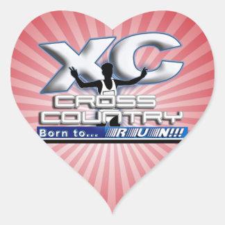 XC BORN TO RUN CROSS COUNTRY LOGO STICKER
