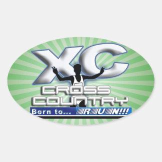 XC BORN TO RUN CROSS COUNTRY LOGO STICKERS