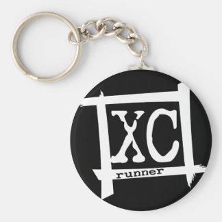XC corredor del campo a través Llavero Personalizado