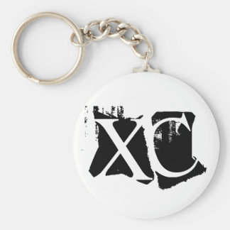 XC - Cross Country Basic Round Button Keychain