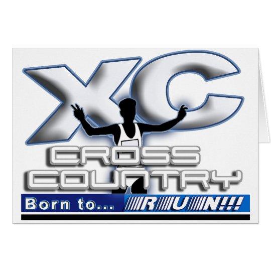 XC - CROSS COUNTRY - BORN TO RUN! CARD