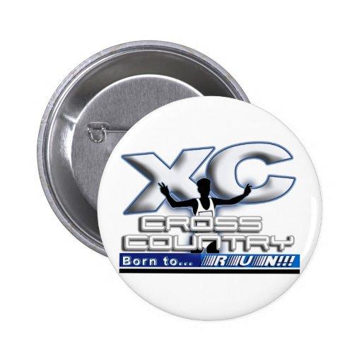 XC - CROSS COUNTRY - BORN TO RUN! PINBACK BUTTON