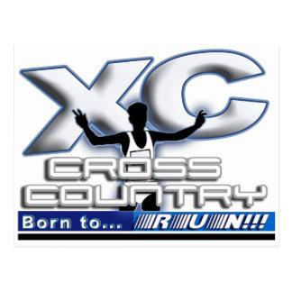 XC - CROSS COUNTRY - BORN TO RUN! POSTCARD