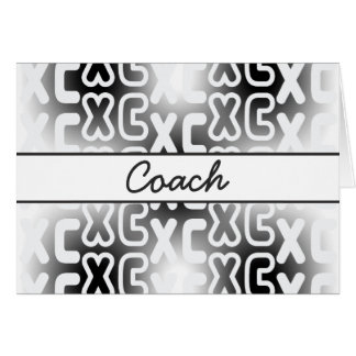 XC Cross Country Coach Stationery Note Card