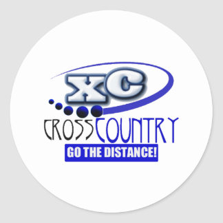 XC CROSS COUNTRY GO THE DISTANCE! CLASSIC ROUND STICKER