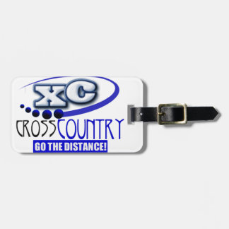 XC CROSS COUNTRY GO THE DISTANCE TRAVEL BAG TAG