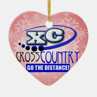 XC CROSS COUNTRY GO THE DISTANCE ORNAMENTS
