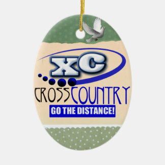 XC CROSS COUNTRY GO THE DISTANCE CHRISTMAS TREE ORNAMENT