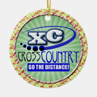 XC CROSS COUNTRY GO THE DISTANCE CHRISTMAS TREE ORNAMENTS