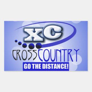 XC CROSS COUNTRY GO THE DISTANCE RECTANGULAR STICKER