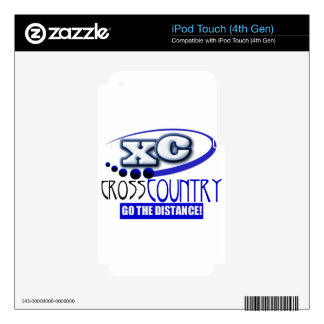 XC CROSS COUNTRY GO THE DISTANCE SKIN FOR iPod TOUCH 4G