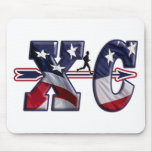 XC CROSS COUNTRY PATRIOTIC USA FLAG MOUSE MATS