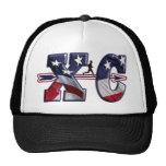 XC CROSS COUNTRY PATRIOTIC USA FLAG TRUCKER HAT