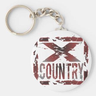 XC Cross Country Runner Basic Round Button Keychain