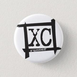 XC Cross Country Runner Button