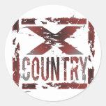 XC Cross Country Runner Classic Round Sticker