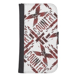 XC Cross Country Runner - Grunge Running Galaxy S4 Wallet Case