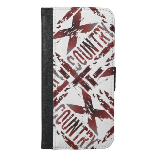 XC Cross Country Runner - Grunge Running iPhone 6/6s Plus Wallet Case