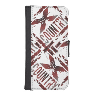 XC Cross Country Runner - Grunge Running Wallet Phone Case For iPhone SE/5/5s