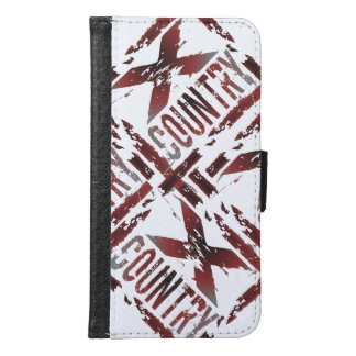 XC Cross Country Runner - Grunge Running Wallet Phone Case For Samsung Galaxy S6