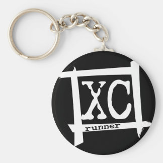 XC Cross Country Runner Key Chains