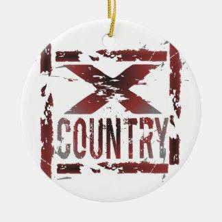 XC Cross Country Runner Christmas Tree Ornament