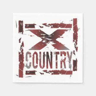 XC Cross Country Runner Paper Napkin