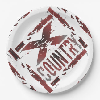 XC Cross Country Runner Paper Plate