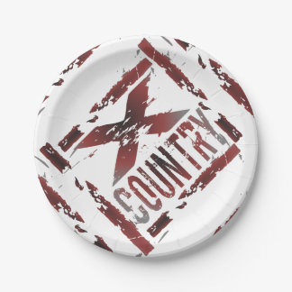 XC Cross Country Runner Paper Plates Party Supply