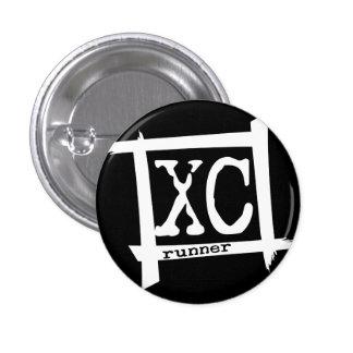 XC Cross Country Runner Pinback Button