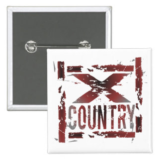 XC Cross Country Runner Pinback Button