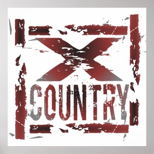 XC Cross Country Runner Print