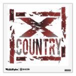 XC Cross Country Runner Room Sticker