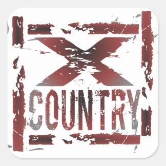 XC Cross Country Runner Square Sticker