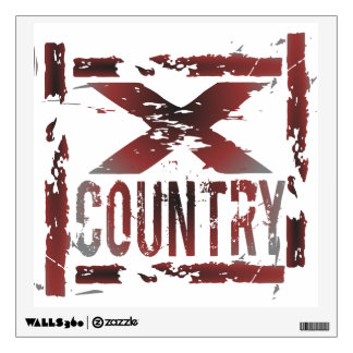 XC Cross Country Runner Wall Decal