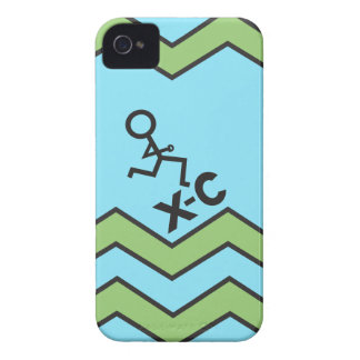 XC Cross Country Running Chevron Pattern iPhone 4 Case-Mate Case