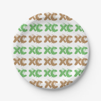 XC Cross Country Running Paper Plate