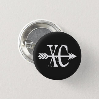 XC Cross Country Running Pinback Button