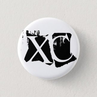 XC - Cross Country Running Pinback Button