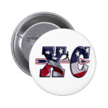 XC CROSS COUNTRY USA FLAG WRAPPED 2 INCH ROUND BUTTON