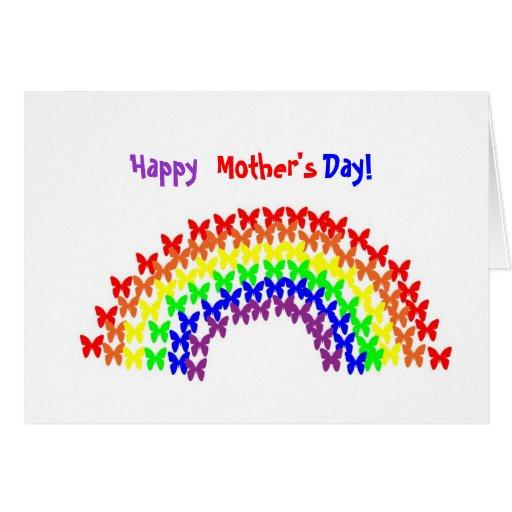 ¡XC- feliz, madre, día! Tarjeta del arco iris