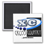 XC MOTTO - Go the Distance - CROSS COUNTRY 2 Inch Square Magnet