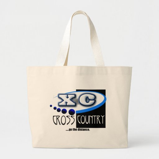 XC MOTTO - Go the Distance - CROSS COUNTRY Tote Bags