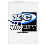 XC MOTTO - Go the Distance - CROSS COUNTRY Greeting Card