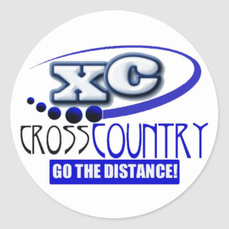 XC MOTTO - Go the Distance - CROSS COUNTRY Classic Round Sticker