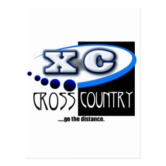 XC MOTTO - Go the Distance - CROSS COUNTRY Postcard